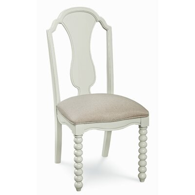 Inspirations by Wendy Bellissimo Kids Linen Desk Chair Color: Morning Mist Grey