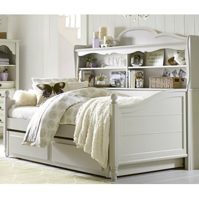 Inspirations by Wendy Bellissimo Twin Convertible Panel Bed Color: Morning Mist Grey