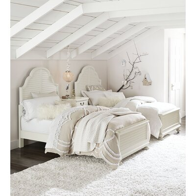 Inspirations by Wendy Bellissimo Panel Bed Size: Twin, Color: Seashell White