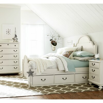 Inspirations by Wendy Bellissimo Underbed Storage Drawer Bed Frame Color: Seashell White