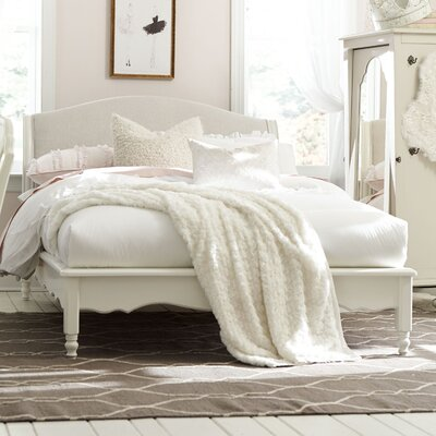 Inspirations by Wendy Bellissimo Avalon Sleigh Bed Size: Full, Color: Seashell White