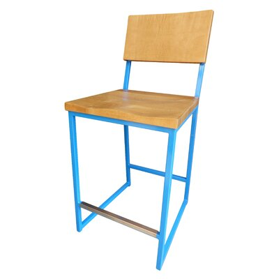 Ryan Bar Stool Finish: Blue