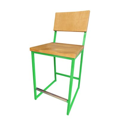 Ryan Bar Stool Finish: Green