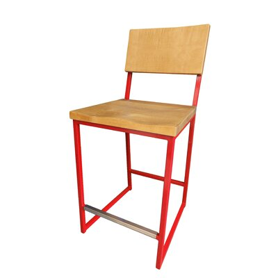 Ryan Bar Stool Finish: Red