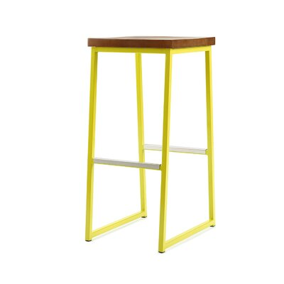 Ryan Bar Stool Finish: Yellow