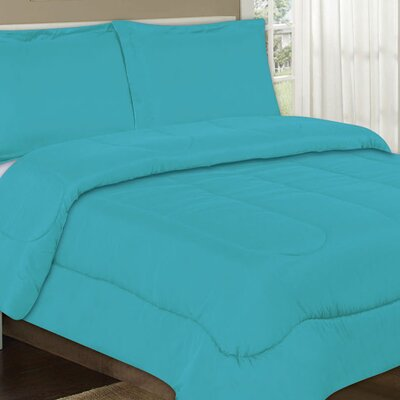 All Season Comforter Color: Aqua, Size: Full / Queen
