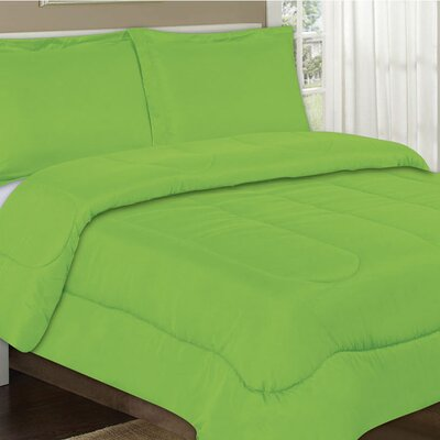 All Season Comforter Color: Lime, Size: Full / Queen