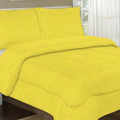 All Season Comforter Color: Yellow, Size: Full / Queen