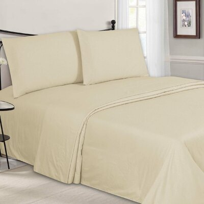 Embossed Sheet Set Color: Cream, Size: Queen