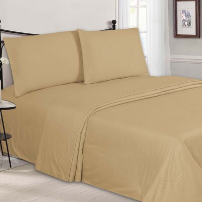 Embossed Sheet Set Color: Taupe, Size: Full