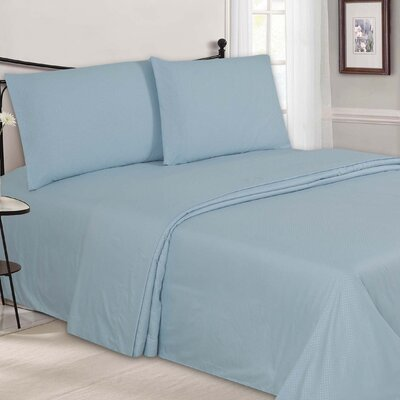 Embossed Sheet Set Color: Light Blue, Size: King