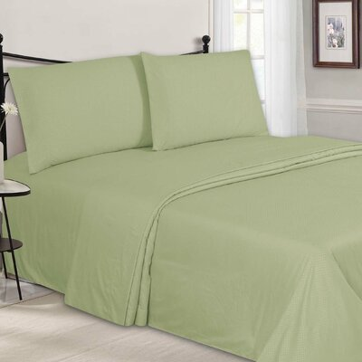 Embossed Sheet Set Color: Mint, Size: King