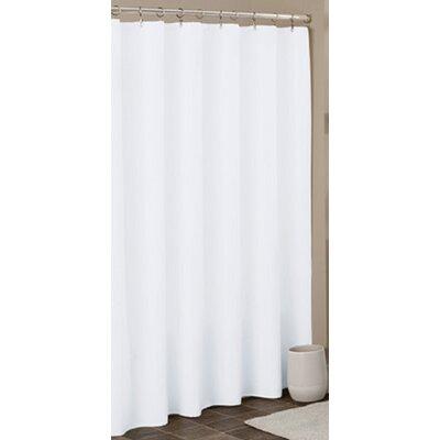 Heavy Duty Shower Liner Color: White