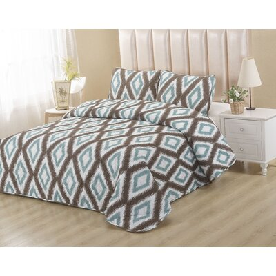 Coco Blue 2 Piece Twin Quilt Set
