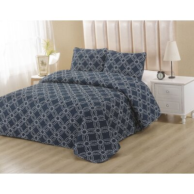 Navy 2 Piece Twin Quilt Set