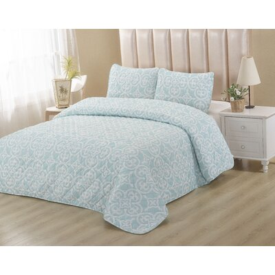 Powder Blue 2 Piece Quilt Set