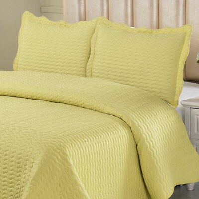 Reversible Quilt Set Color: Bright Yellow