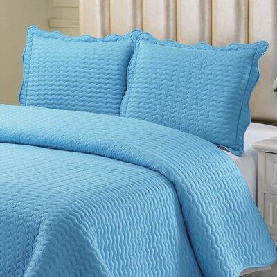 Reversible Quilt Set Color: Aqua