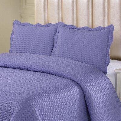 Reversible Quilt Set Color: Violet