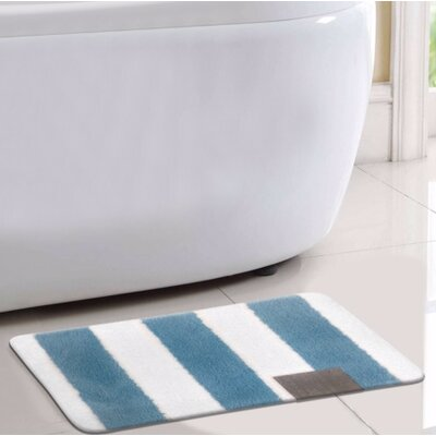 Monte Carlo Bath Rug Color: Blue