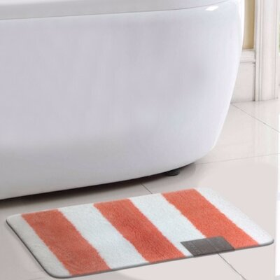 Monte Carlo Bath Rug Color: Coral