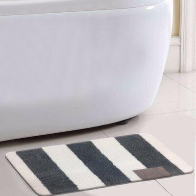 Monte Carlo Bath Rug Color: Gray