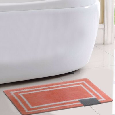 Capri Bath Rug Color: Coral