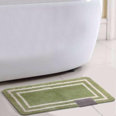 Capri Bath Rug Color: Green