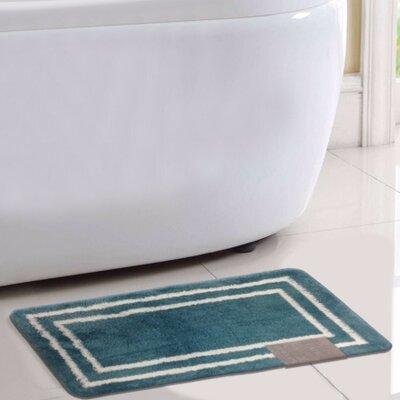 Capri Bath Rug Color: Teal