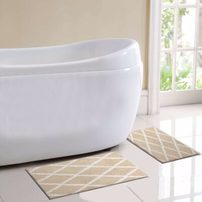 St. Tropes 2 Piece Bath Rug Set Color: Beige