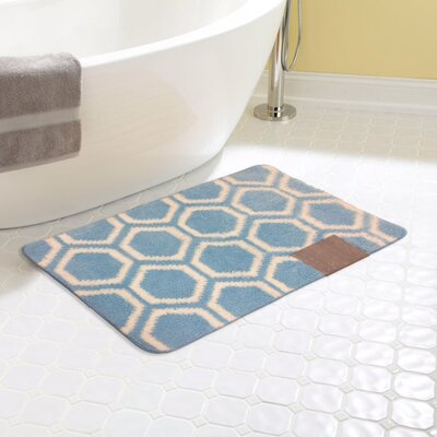 Monaco Bath Rug Color: Blue