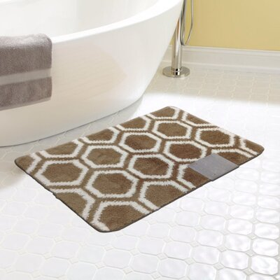 Monaco Bath Rug Color: Brown