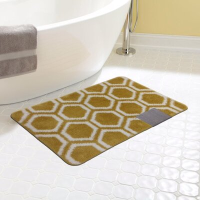 Monaco Bath Rug Color: Gold