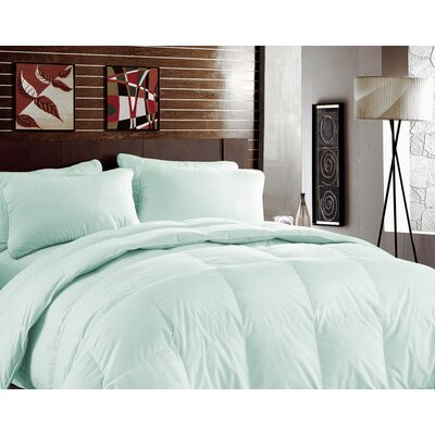 Bamboo Heavyweight Down Alternative Comforter Color: Bleached Aqua