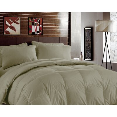 Bamboo Heavyweight Down Alternative Comforter Color: Sand