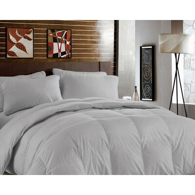 Bamboo Heavyweight Down Alternative Comforter Color: Silver Gray