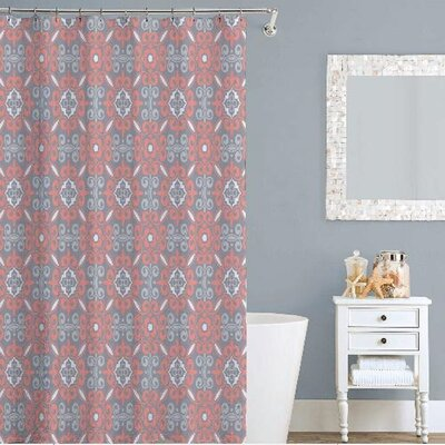 Curly Shower Curtain Color: Coral