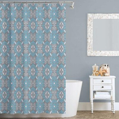 Curly Shower Curtain Color: Teal