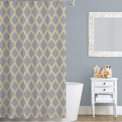 Lisbon Shower Curtain Color: Gold