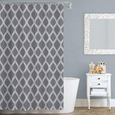 Lisbon Shower Curtain Color: Gray