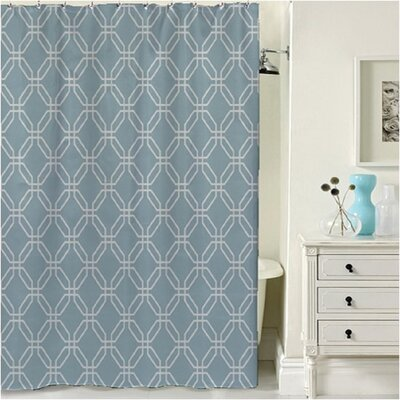 Porto Shower Curtain Color: Blue