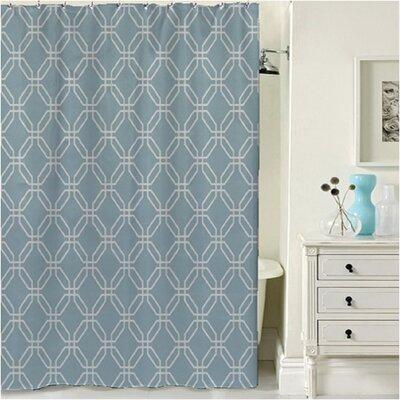 Porto Shower Curtain Color: Blue Porto Blue