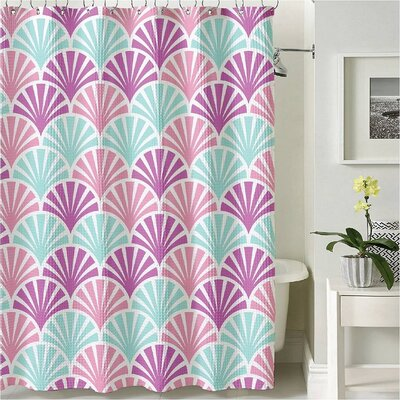 Scallop Shower Curtain Scallop Pink