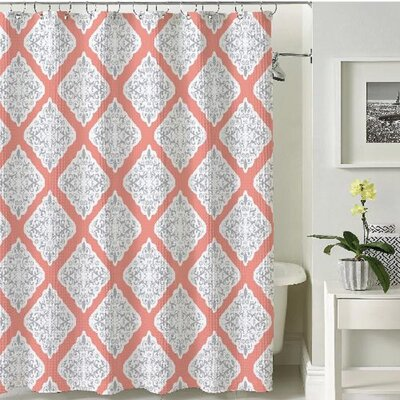 Stockholm Shower Curtain Color: Coral