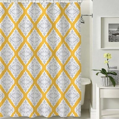 Stockholm Shower Curtain Color: Yellow