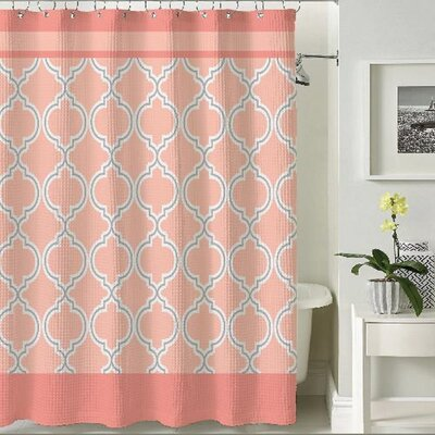 Terrlis Shower Curtain Color: Coral