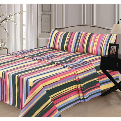 Alline 300 Thread Count 100% Cotton Sheet Set Size: King
