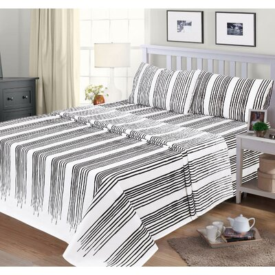 Katlyn 300 Thread Count 100% Cotton Sheet Set Size: Queen