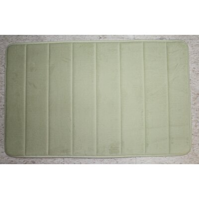 Callingwood Foot Comfort Foam Cushion Bath Rug Color: Green