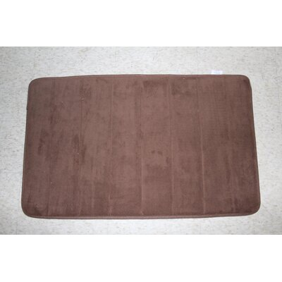 Callingwood Foot Comfort Foam Cushion Bath Rug Color: Brown
